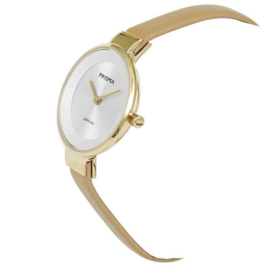 Prisma-P1926-dames-horloge-edelstaal-goud-schuin