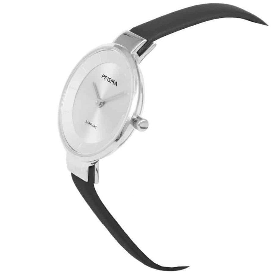 Prisma-P1927-dames-horloge-edelstaal-zilver-schuin