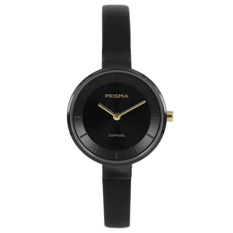 Prisma-P1928-dames-horloge-edelstaal-zwart-l