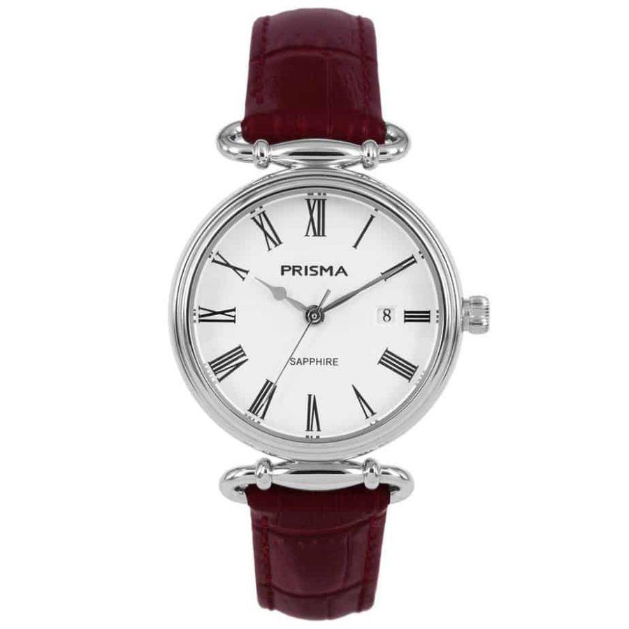 Prisma-P1930-dames-horloge-edelstaal-saffier-rood-l