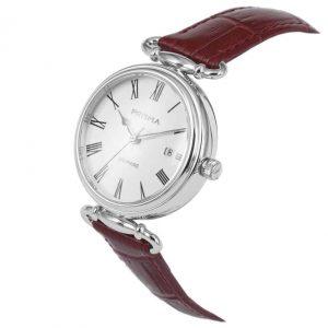 Prisma-P1930-dames-horloge-edelstaal-saffier-rood-schuin-l