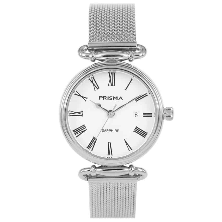 Prisma-P1933-dames-horloge-edelstaal-saffier-milanees-l