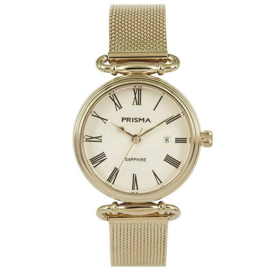 Prisma-P1934-dames-horloge-edelstaal-saffier-milanees-l