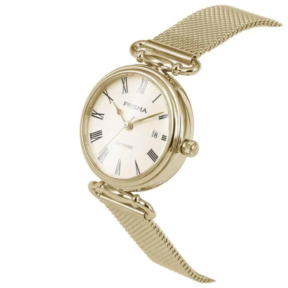 Prisma-P1934-dames-horloge-edelstaal-saffier-milanees-schuin-l