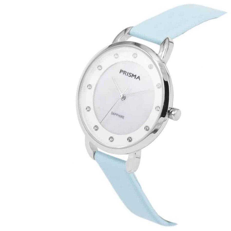 Prisma-P1935-dames-horloge-edelstaal-pastel-blauw-schuin-l