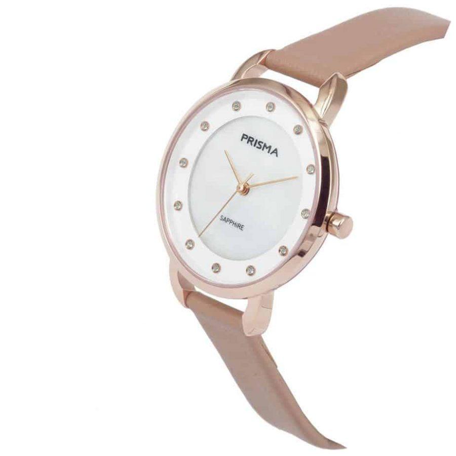 Prisma-P1936-dames-horloge-edelstaal-pastel-roze-schuin-l