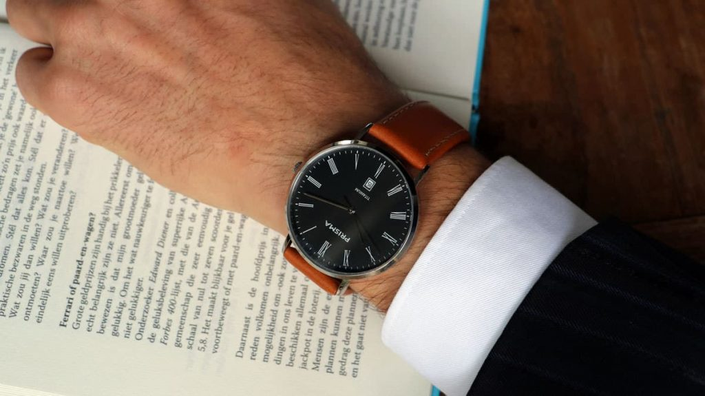 Prisma horloge heren Tailor Brown men watch