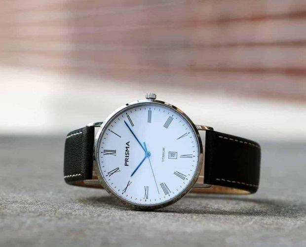 prisma tailor titanium watch horloge black