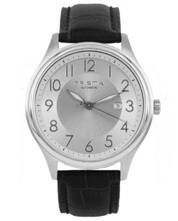 Prisma automaat P1629 heren horloge edelstaal schuin