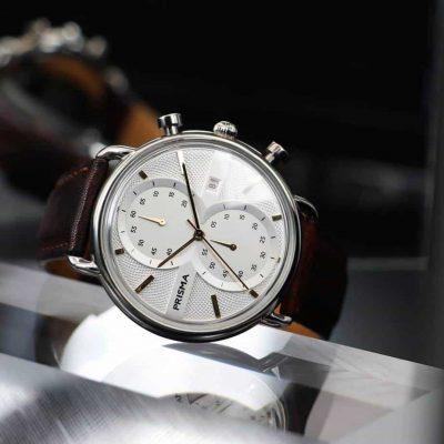 prisma dome watch glass horloge retro vintage chronograaf herenhorloges