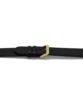 horlogeband 113 claudio calli leder black watch strap zwart lederen leather leder klassiek bandje
