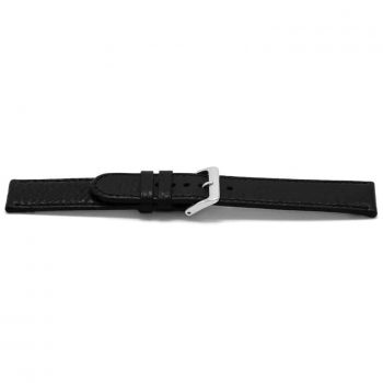 horlogeband 113 claudio calli leder black watch strap zwart lederen leather leder klassiek bandje