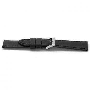 horlogeband 122 claudio calli classic zwart gestikt black watch strap nfc tag