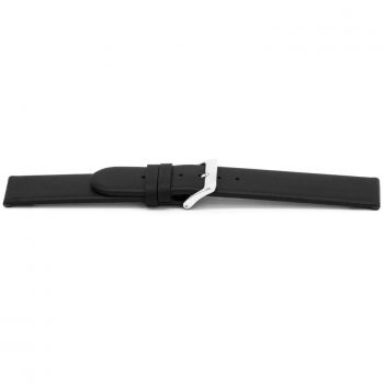 horlogeband 116 claudio calli classic zwart ongestikt black watch strap nfc tag