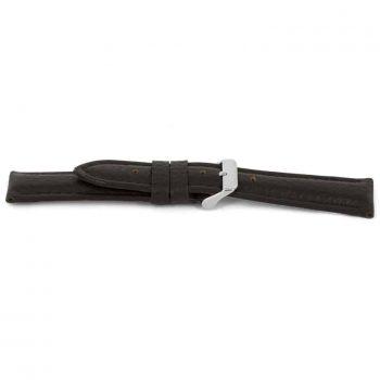 horlogeband 037 claudio calli leer bruin XL NFC watch strap brown leather stitched gestikt