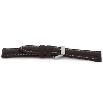 horlogeband 038 claudio calli leder bruin XL gestikt watch strap brown NFC tag