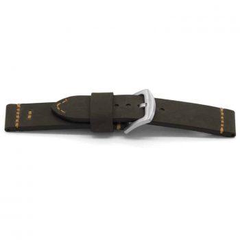 horlogeband 128 bison claudio calli leder zwart black watch strap lederen NFC band