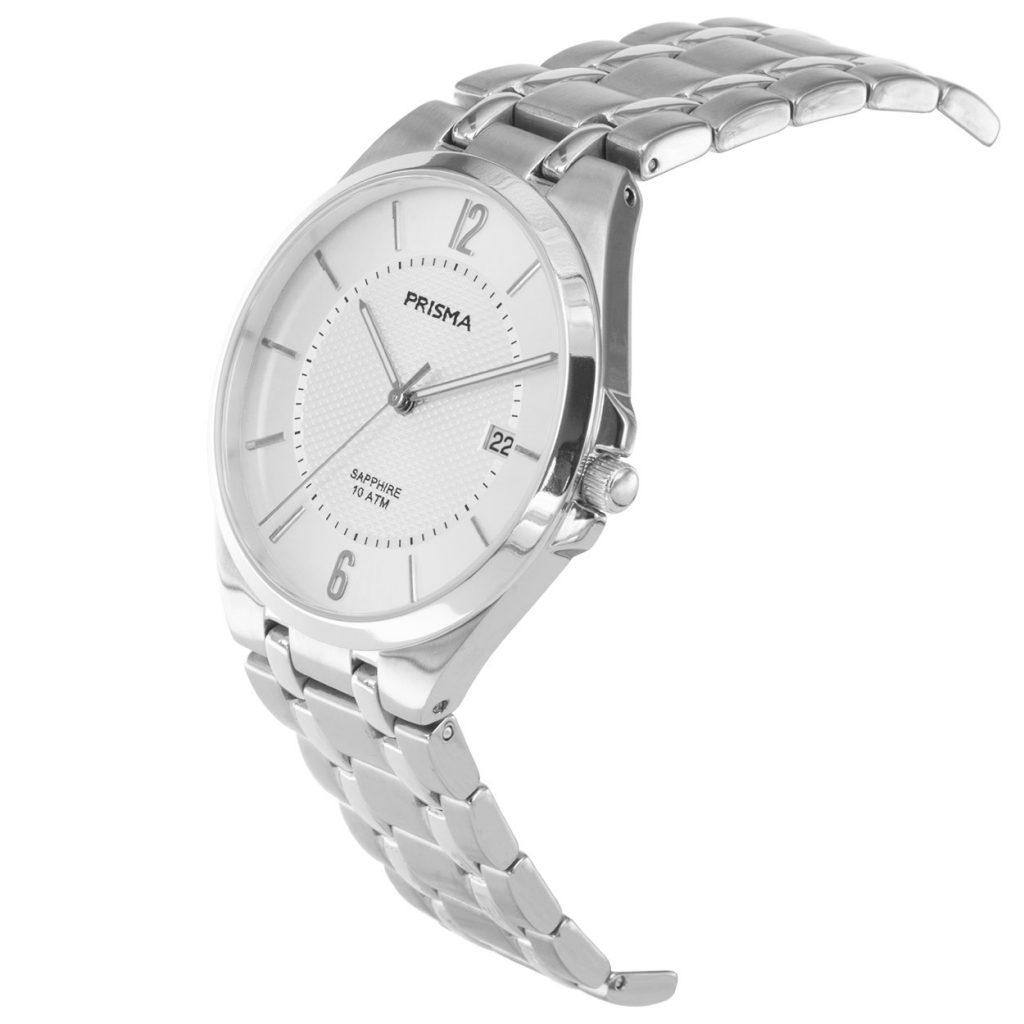 Prisma P1267 heren horloge titanium wit saffierglas