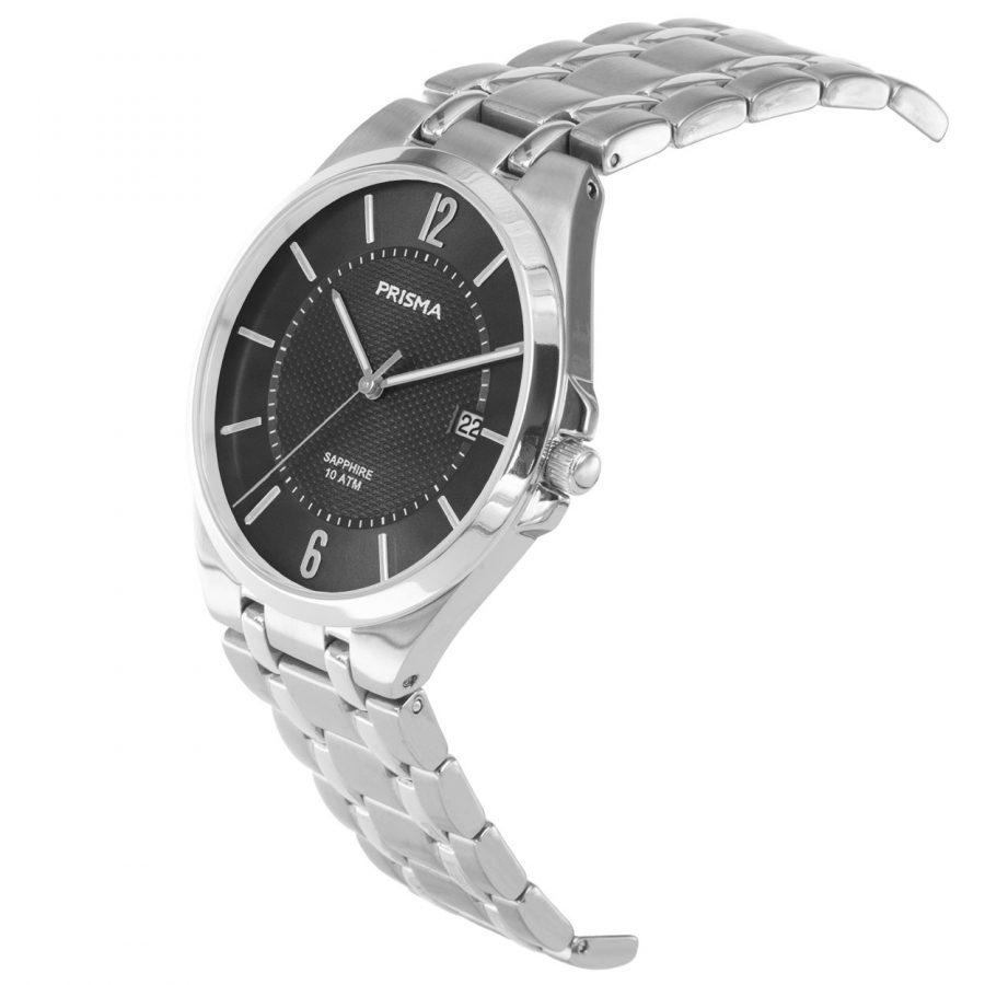 Prisma P1267 heren horloge titanium zwart saffierglas