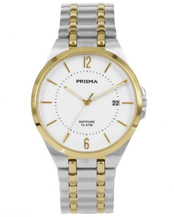 Prisma P1267 heren horloge titanium bicolor saffierglas