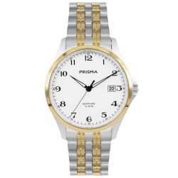 Prisma P1272 heren horloge titanium bicolor saffierglas 10ATM