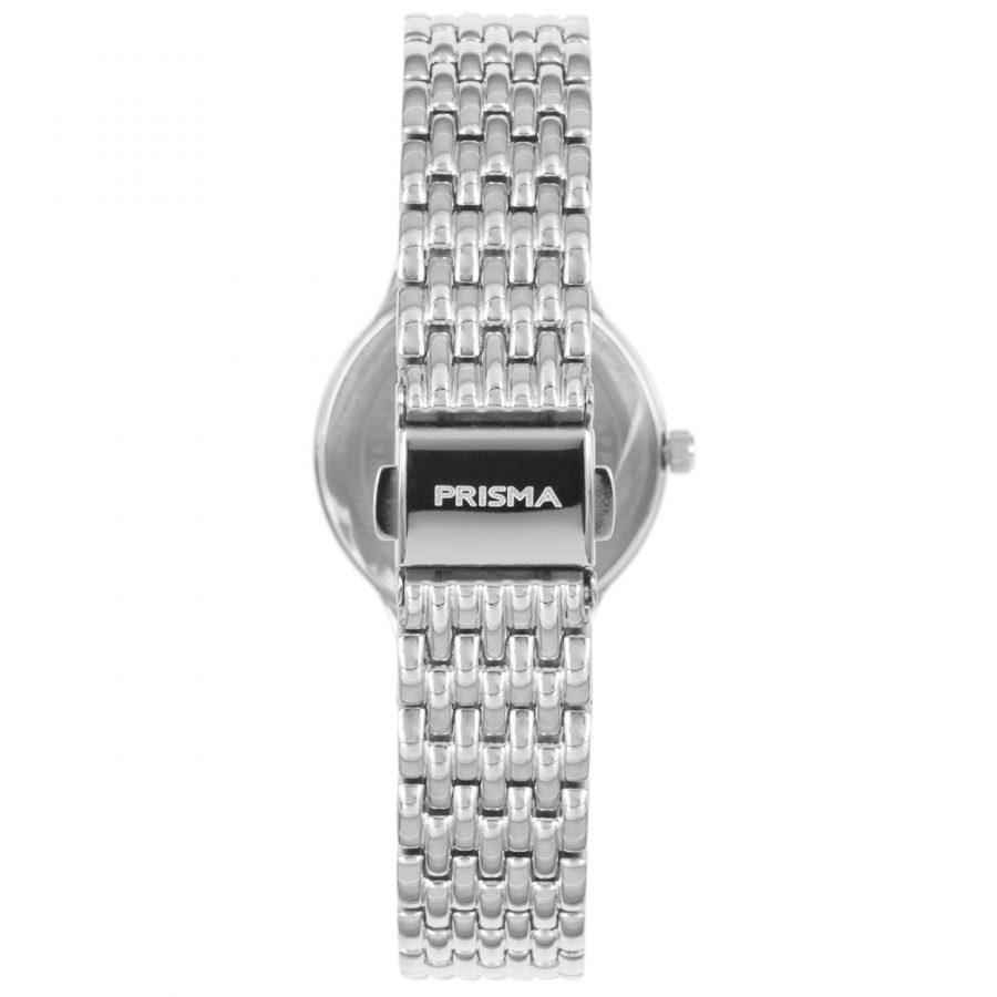 Prisma P1275 dames horloge titanium zilver parelmoer