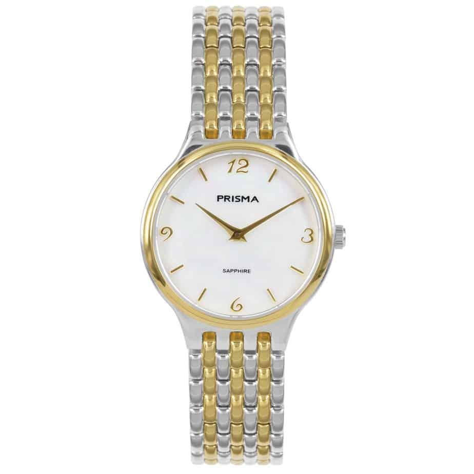 Prisma P1276 dames horloge titanium bicolor parelmoer