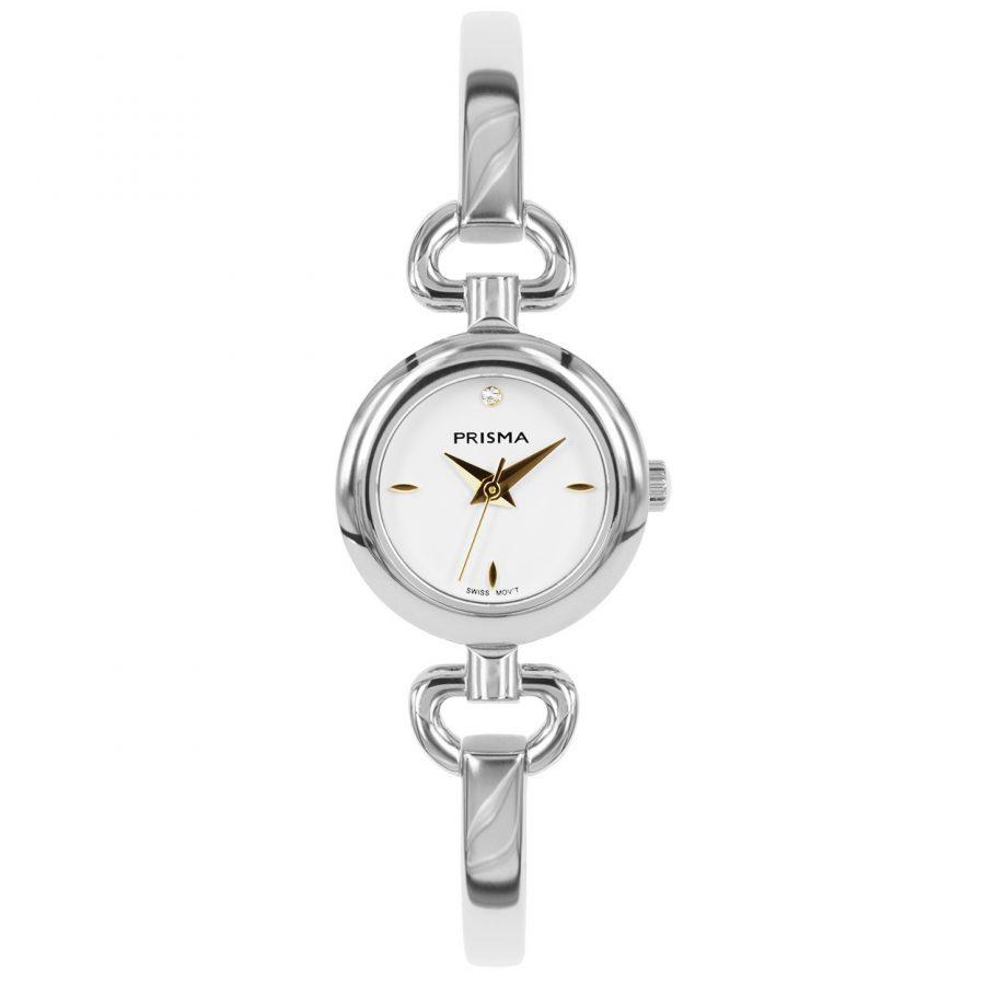 Prisma P1560 dames horloge edelstaal zilver slavenband