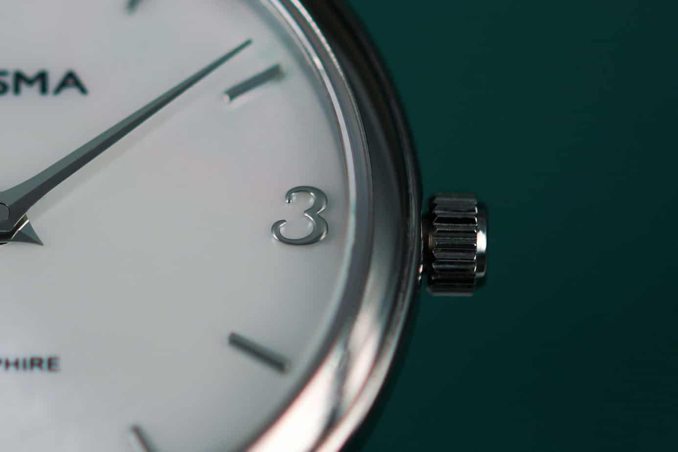 prisma titanium watch for ladies titanium horloge voor dames parelmoer