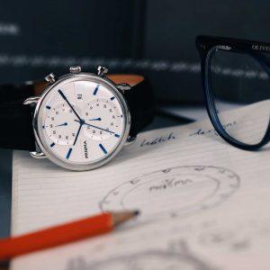 prisma dome 1920 chronograaf blauw horloge P.1920 kantoor heren P1920