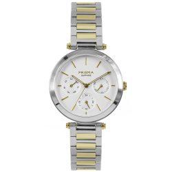 Prisma-P1342-dames-horloge-multifunctie-bicolor-edelstaal