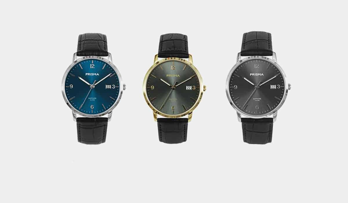 prisma watches horloges sun ray slimline collection