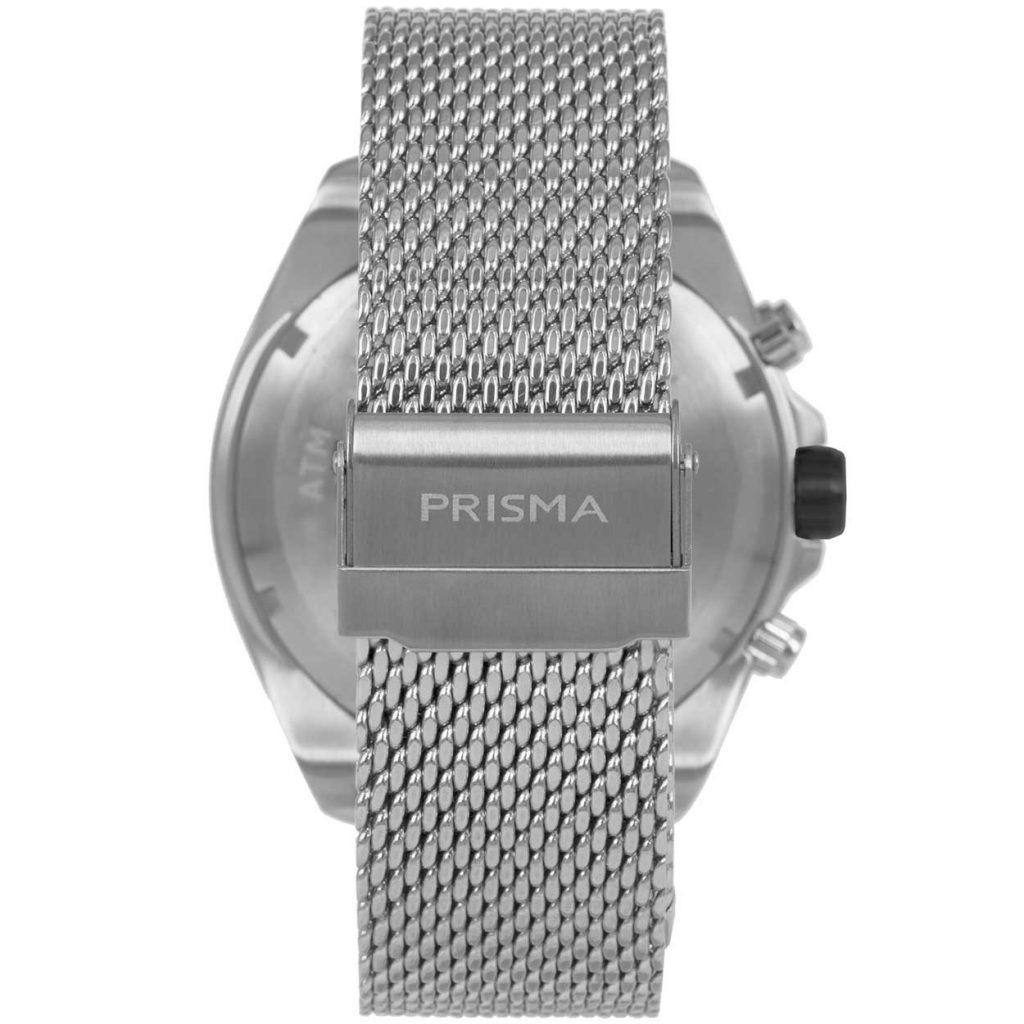 Prisma P1325 heren horloge chronograaf mesh zilver