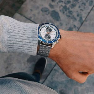 prisma master blauw P1325 men watch herenhorloge