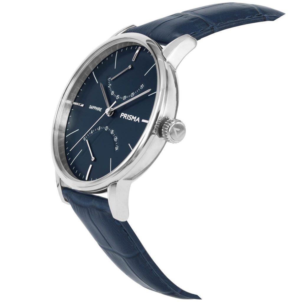 Prisma P.1601 heren horloge blauw voyage herenhorloge edelstaal zilver klassiek 1601