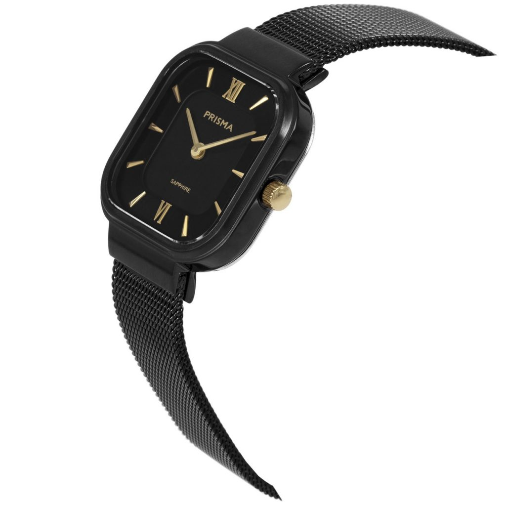 Carré black Prisma watch woman