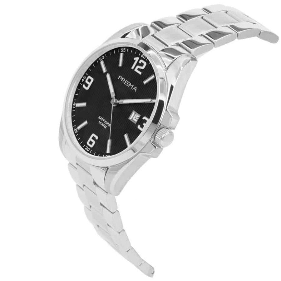 Prisma-P1146-heren-horloge-edelstaal-shockproof-schuin