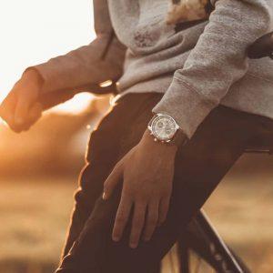 p1591 prisma horloge woeiman traveller watch men grey sportief herenhorloge