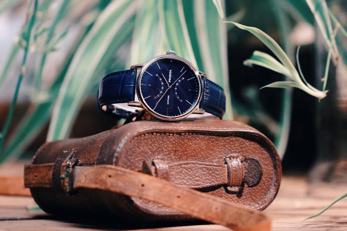 prisma voyage blauw p.1601 blauw horloge heren blue men's watch