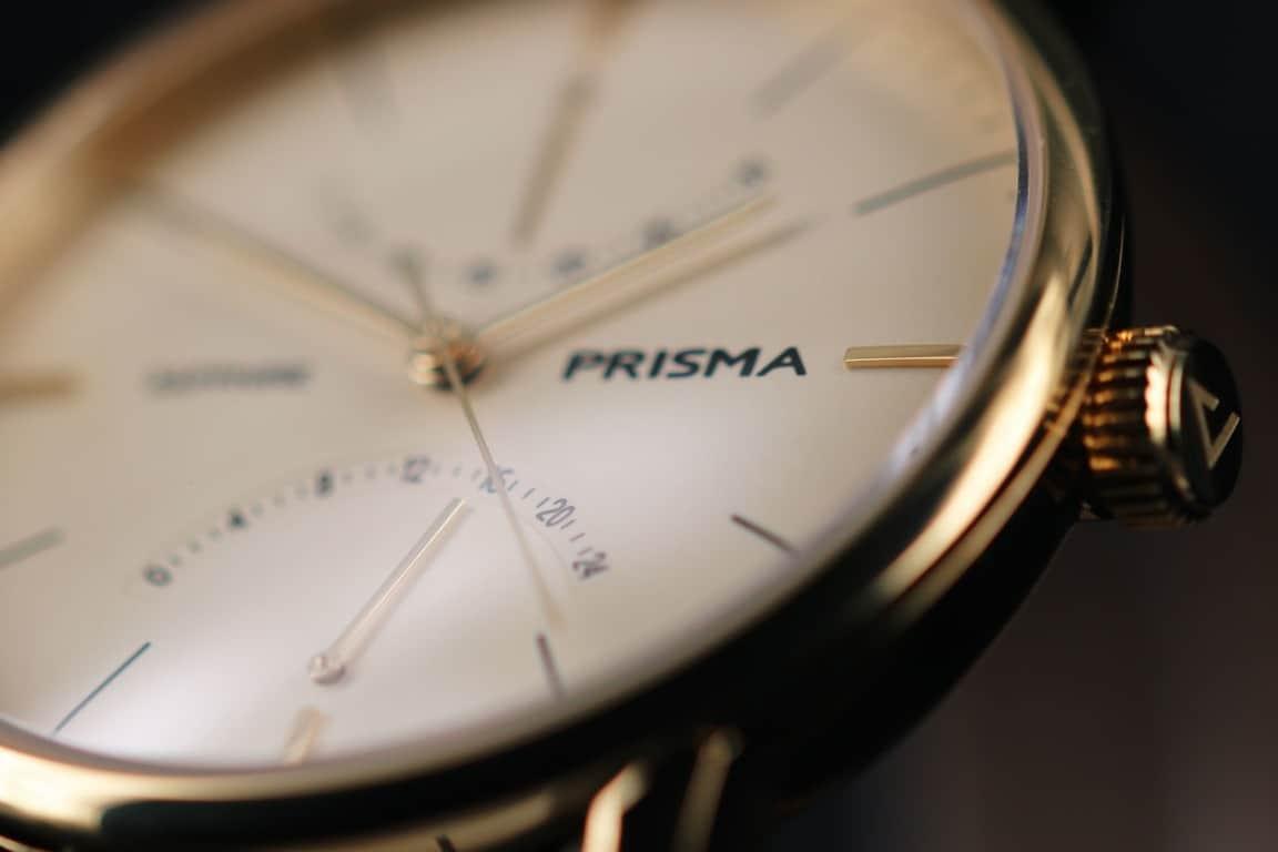 prisma voyage p.1602 watch gold design 24-uurs indicatie goud closeup klassiek herenhorloge