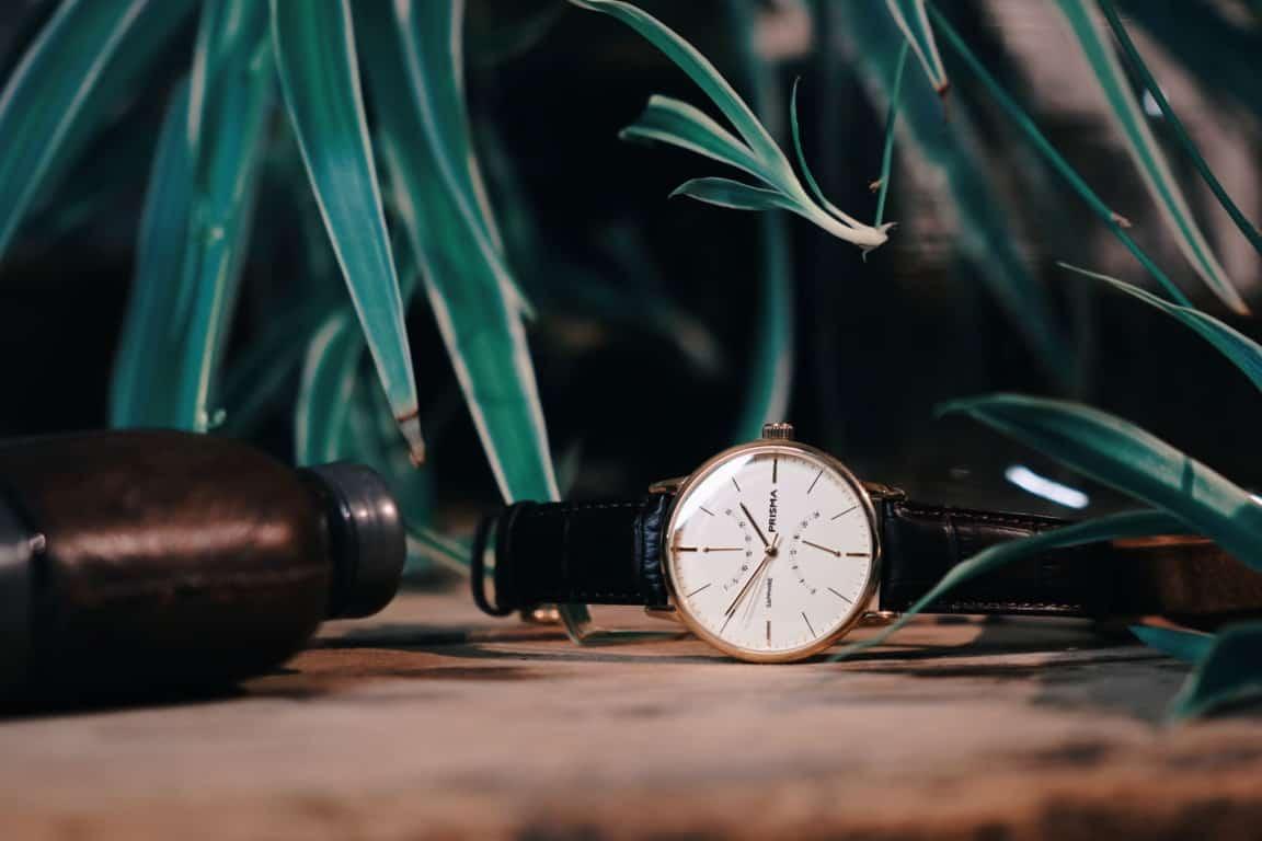 prisma voyage gouden horloge gold watch p.1602 heren klassiek stijlvol