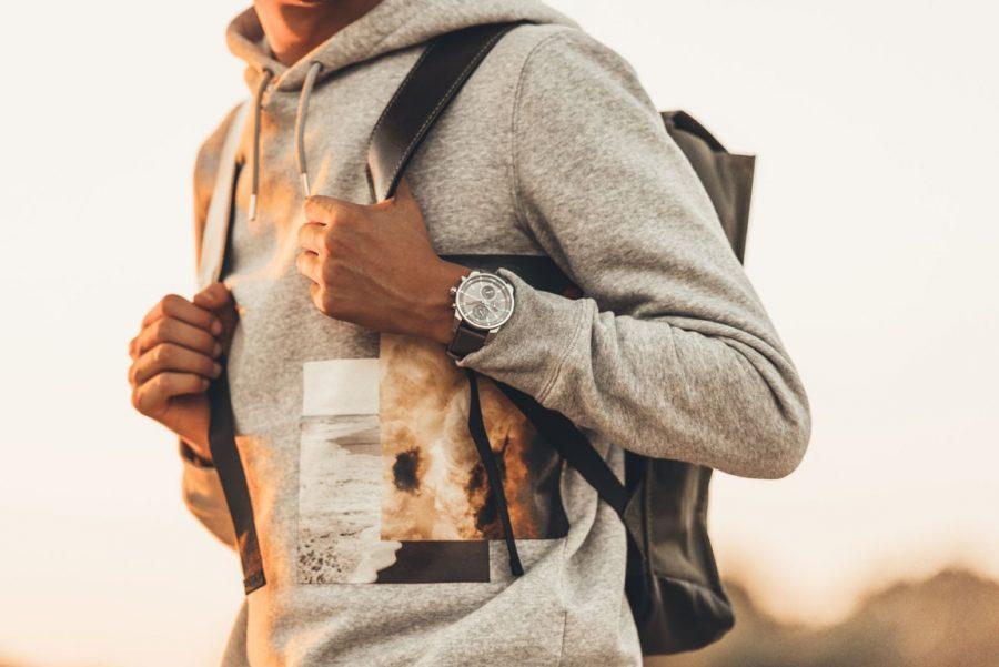 woeiman traveller watch men grey p 1591 prisma horloge