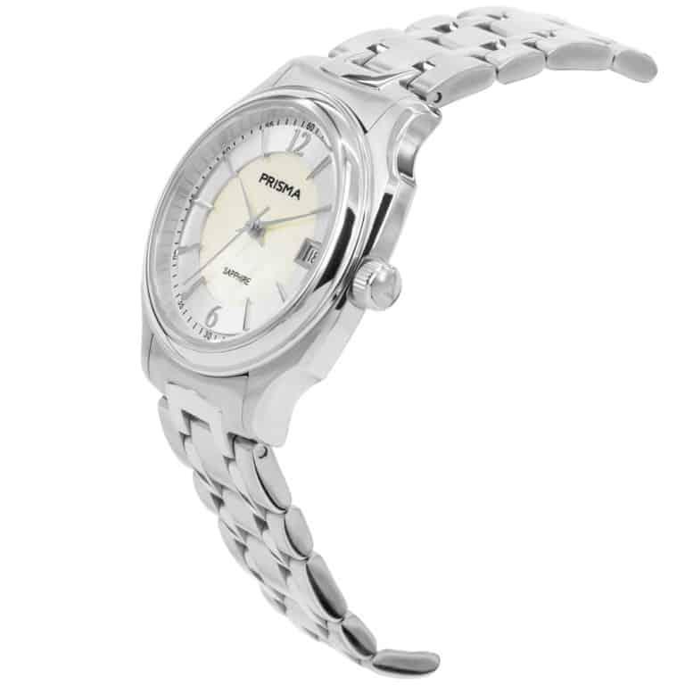 Prisma-P1135-dames-horloge-edelstaal-solid-zilver-schuin