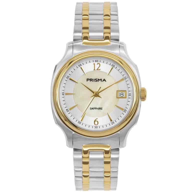 Prisma-P1136-dames-horloge-edelstaal-solid-bicolor