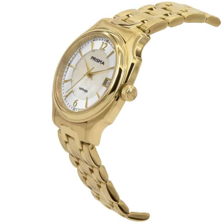 Prisma-P1137-dames-horloge-edelstaal-solid-goud-schuin
