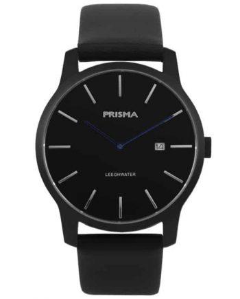Prisma P.1821 P1821 heren horloge leeghwater zwart