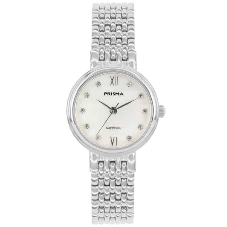 Prisma-P1990-dames-edelstaal-parelmoer-saffier-zilver