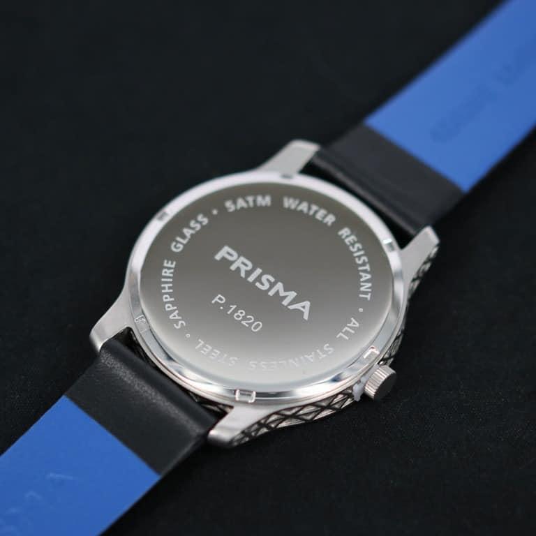 prisma leeghwater grijs horloge zilver P 1820 achterkant