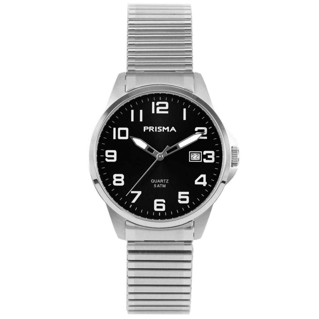 Prisma P1482 heren horloge edelstaal rekband