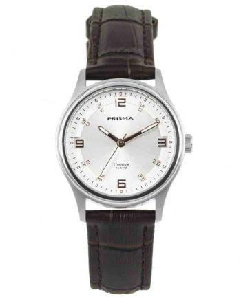 Prisma P1545 rosegold brown watch titanium silver 10 ATM